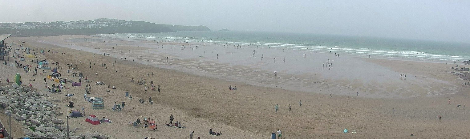 Latest webcam still for Newquay - Fistral North