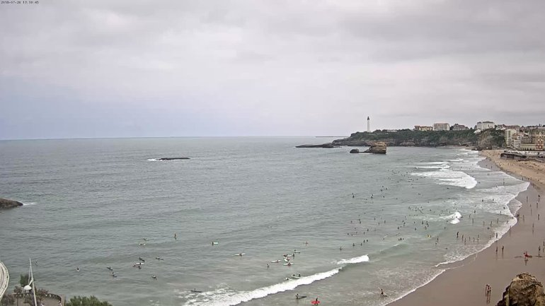 Biarritz Grande Plage Surf Report, Surf Forecast and Live Surf Webcams